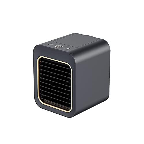 WATPET USB Scrivania Mini Ventilatore del condizionatore d'Aria del Dispositivo di Raffreddamento Desktop Air Ventilatore umidificatore purificatore for Ufficio Camera per Adulti (Color : Dark Blue)