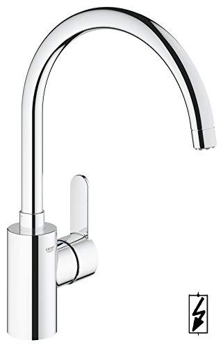 GROHE Eurostyle Cosmopolitan |  Küchenarmaturen - Einhand-Spültischbatterie, DN 15, chrom | Niederdruck für offene Warmwasserbereiter | 31127002
