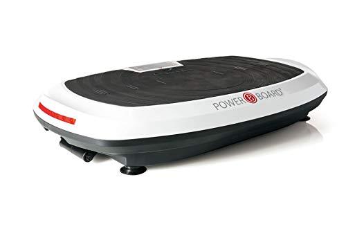 Casada PowerBoard 2.1 in weiß-schwarz - Fitnessgerät und Vibrationsplattform für Fitnessübungen, Muskelentspannung und Anregung von Stoffwechsel, Fettverbrennung & Durchblutung