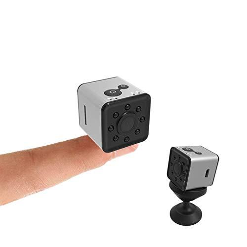 Cámara oculta para niñera 1080P, mini cámara de vigilancia espía WiFi visión nocturna, impermeable, cámara oculta de vigilancia de vídeo para el hogar, coche, cámara de oficina, color Plateado