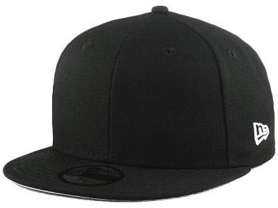 Blank New Era Custom 59FIFTY Fitted Cap (7 5/8, Black)