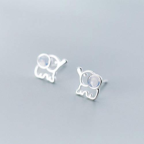 Stud Earrings For Woman,Fashion Hollow Elephant Animal Mosaic Crystal Earrings 925 Silver Stud Earrings For Christmas Birthday Jewelry Gift Men Girls