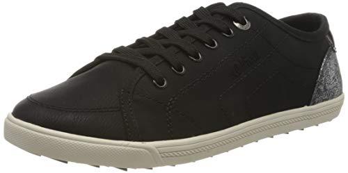 s.Oliver Damen 5-5-23631-24 Sneaker, Schwarz (Black 001), 38