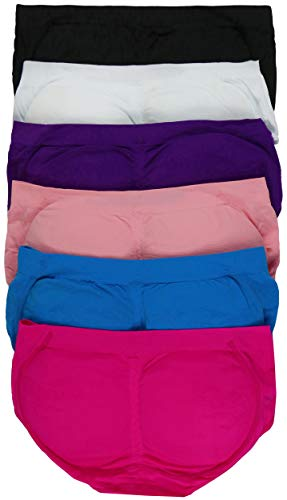 ToBeInStyle Women's Pack of 6 Enhancing Butt Boosting Padded Panty Briefs - Assorted - OS