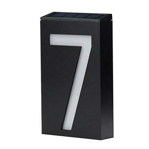 YHuHY LED Solar House Numbers Lights, Outdoor Waterproof Wall Mount Light, Illuminated House Numbers Plaque, Address Sign Light Numbers, Easy to Install, for Home Hotel Entrance