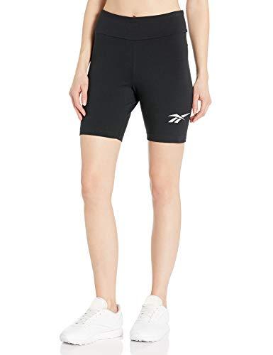 Reebok Women's Classic Vector Logo Bike Shorts, Black, Medium