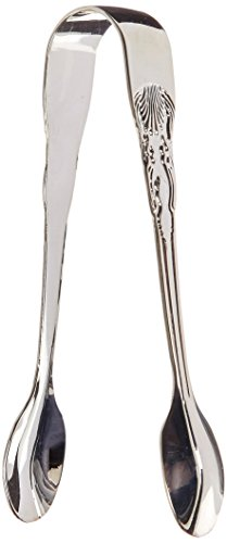 Elegance Silver 86241 Silver Plated Sugar Tongs, 4-1/2