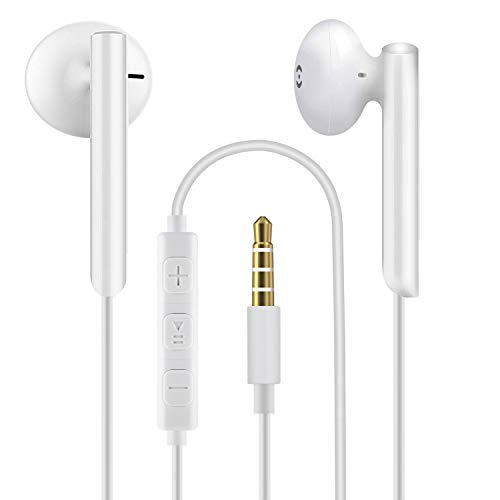 Earphones, In-Ear Headphones Wired Earbuds, Noise Isolating Headset With Microphone, Heavy Deep Bass, Compatible with Phone Pad Samsung HuaWei MP3 Players Tablets and Laptops (2PACK)