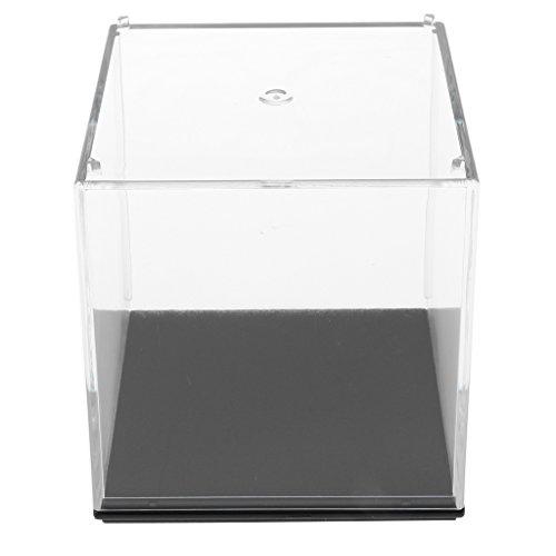 D DOLITY Expositor Transparente de Acrílica Caja de Presentación Anti-Polvo Colección de Figuras de Acción Juguete de Felpa - 7x7x7cm