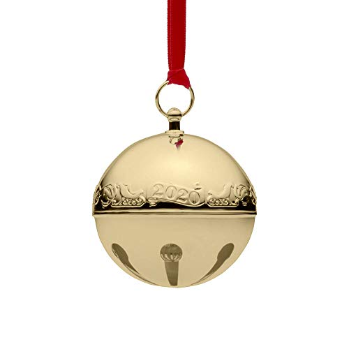Wallace 2020 Sleigh Bell Gold-Plated Christmas Holiday Ornament, 31st Edition