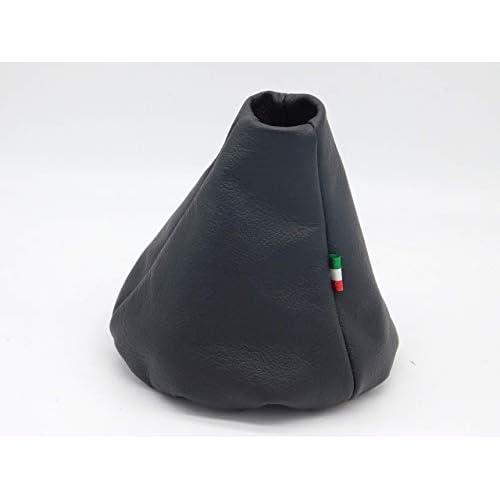 Cuffia leva cambio Fiat 500 312_ (Bj 2007-2019) vera pelle nera e tricolore
