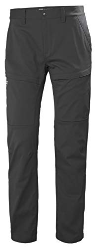 Helly Hansen Skar Aire Libre Hiking Excursionismo Pantalones con Estiramiento, Hombre, Ebony, M