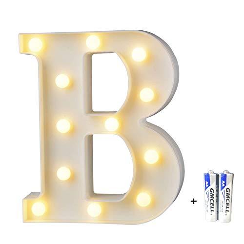 LED Buchstabe Lichter Alphabet, LED Brief Licht, Led dekoration für Geburtstag Party Hochzeit & Urlaub Haus Bar - Buchstabe B