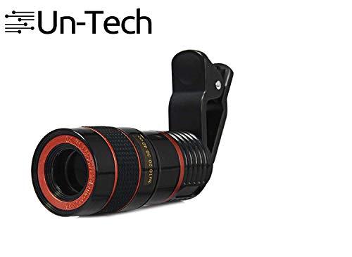 Un-Tech Clip-on 8X Optical Zoom Telescope Phone Camera Lens