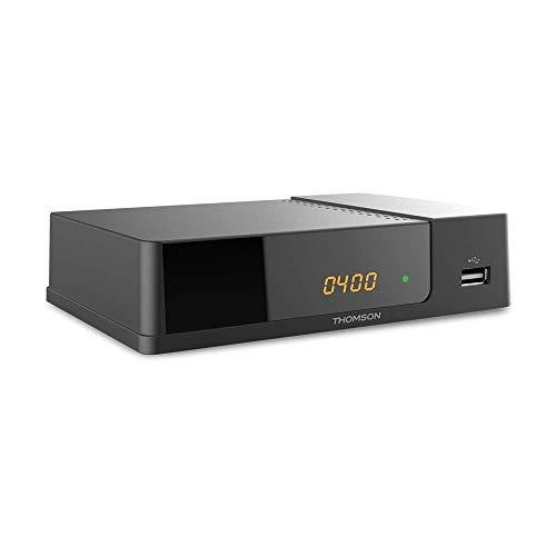 THOMSON THT709 Décodeur TNT Full HD -DVB-T2 - Afficheur - Compatible HEVC265 - Récepteur/Tuner TV avec fonction enregistreur (HDMI, Péritel, USB, Dolby Digital Plus) - Noir