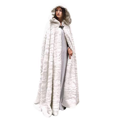 Unisex Halloween Kostüm Karneval Fasching Costume Umhang Cape Cosplay Kapuze Vampir Zauberer Hexe für Damen Herren Erwachsene Mittelalter Gothic Langarm Mäntel Weihnachts Party Flanell Kapuzenumhang
