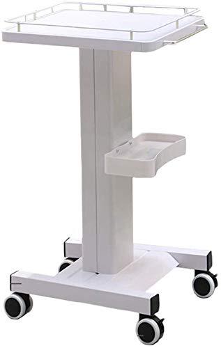 Salon Blanc trolley met omheining en handvat, cosmetica-instrument voor huishoudelijk gebruik in de handel 35 cm, 35 cm, 70 cm (kleur: wit, maat: 35 cm, 35 cm, 70 cm) El