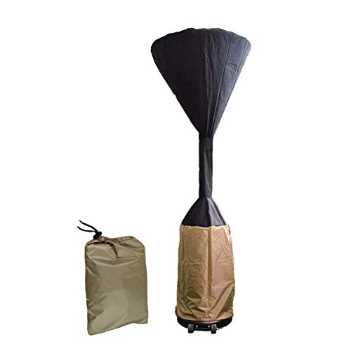 Yusheng Cubierta para calentador de patio, impermeable, resistente, tela Oxford 210D, cubierta protectora de muebles redonda con bolsa de almacenamiento, 241 x 92 x 48 cm