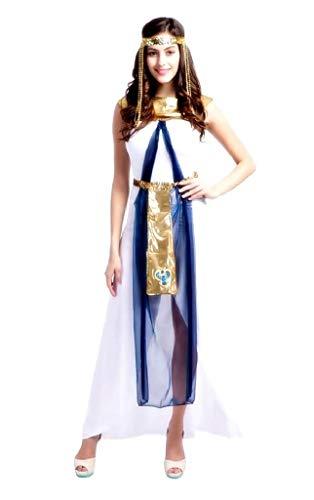 EVRYLON Cleopatra kostüm Kleid Karneval sexy ägyptischen weißen Erwachsenen Parteien größe m
