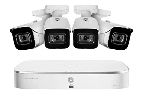 Lorex 4K 8-Channel Fusion NVR System with Four 4K (8MP) IP Cameras
