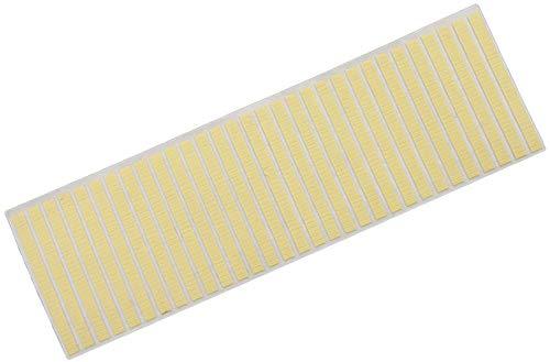 BANNAB 22.5x7mm Autocollants Jaunes Collants étiquette de Bijoux de Montre de Papier adhésif