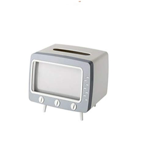 Contenitore per fazzoletti da tavolo Boxcreative Tv Tissue Box Desktop Porta Carta Dispenser di Immagazzinaggio Tovagliolo Caso Organizzatore Con Supporto Per Telefono Mobile