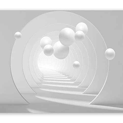 murando Fototapete 3D Effekt 400x280 cm Vlies Tapeten Wandtapete XXL Moderne Wanddeko Design Wand Dekoration Wohnzimmer Schlafzimmer Büro Flur Kugeln Tunnel grau a-C-0101-a-a