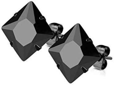 LOT de 3 paires de Boucles D/' Oreilles Ronde CRISTAL NOIR ARGENT Neuf