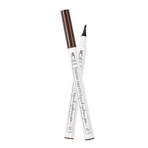 Augenbrauenstift Wasserfest -Flow Make-up Eyebrow Pencil Waterproof Eyebrow Pen mit Tips Wasserfester Langenhaltend Tattoo Augenbrauenstift für Natürlich Augenbrauen Schminke