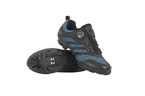 Massi Zapatillas MTB IDUMM Blue/Black T.44, Juventud Unisex, Negro/Azul, 44