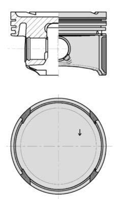 Kolbenschmidt 40795610 Kolben & Ringe