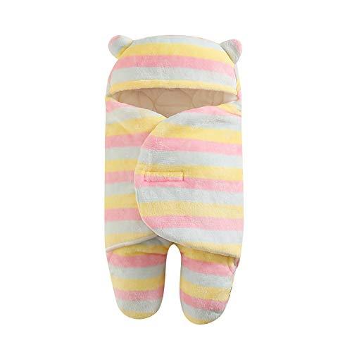 clacce Neugeborenes Baby-Mädchen Nette Baumwolle, die Schlafdecken-Wickelwickel erhält extra weich und dick, saugfähig