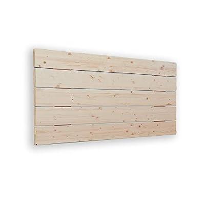 🛌 AVENCO - Cabecero de cama tipo palet. Su material es madera de pino cepillada. Aporta un toque rústico y moderno. 🛌 MEDIDAS: 145x5x50 cm 🛌 TRANSPIRABLE - La parte trasera contiene un tejido TNT de color negro, para hacerlo transpirable. Además, el ...