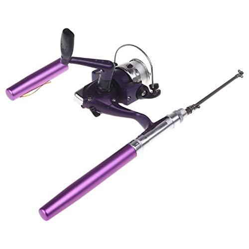 Docooler - Mini caña de pescar de aluminio tipo bolígrafo. Tamaño de...