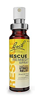 Bach RESCUE REMEDY Spray 20mL Natural Stress Relief Homeopathic Flower Remedy Vegan Gluten and Sugar-Free Non-Habit Forming