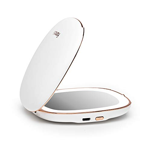 Our #4 Pick is the Fancii Compact Vanity Mirror with Natural LED Lights