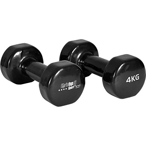 Christopeit Vinyl Hanteln 2 Stück a 4 kg Sport Aerobic Fitness Gewichte Gymnastik Kraftsport