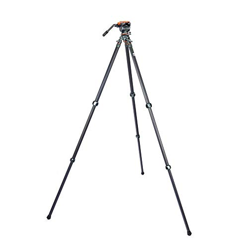 3 Legged Thing Legends Mike Carbon Fibre Levelling Base Tripod with AirHed Cine and Standard Video Plate