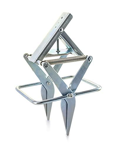 QWORK Mole Trap, Gopher Trap Mechanical Eliminator with Quick Scissors, Silver