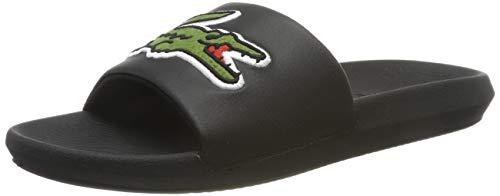 Lacoste Croco Slide 319 4 US CMA, Sandalias de Punta Descubierta para Hombre, Negro (Black/Green), 42 EU