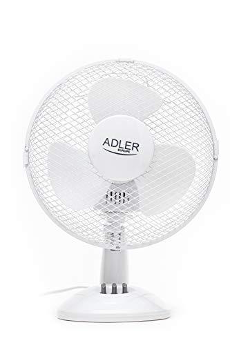 Adler AD7302 AD 7302 Tischventilator, Weiß