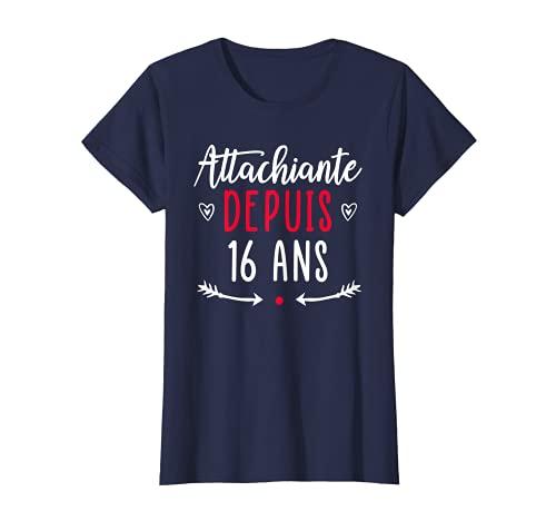 Femme Cadeau Anniversaire 16 ans Fille Humour Ado Femme T-Shirt