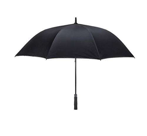Jsmhh Regenschirme 8 Knochen Große K-POP Umbrella - Langer Griff Winddichtes & Stormproof Umbrella - Auto Open Schwarz Regenschirme - for Männer + Frauen (Color : ?Black, Size : 130cm)