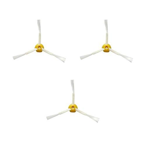 Fulltime® 3 Pack Side Brushes Seitenbürsten Ersatz für I-robot Roomba 500 Series Staubsauger Zubehör Teil Kit, Gelb