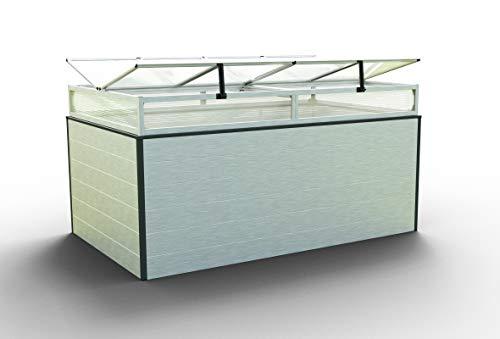 GFP Christina Aluminium Hochbeet für den Garten - 195x119x77cm, formstabil und witterungsbeständig auch bei Hagel mit Aluminium-Hohlkammerprofilen, Verschiedene Sets vorhanden - Made in Austria