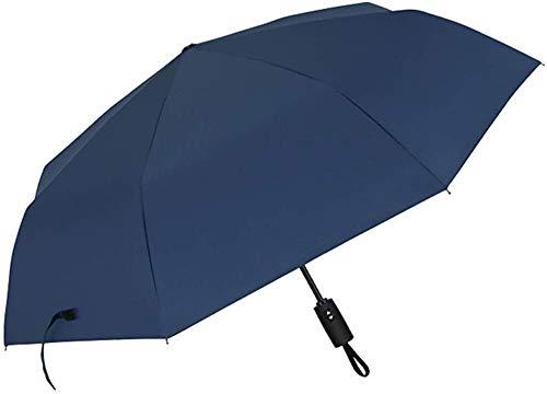 Paraguas reforzando automáticamente el estudiante de negocios a prueba de viento día soleado día lluvioso,Blue