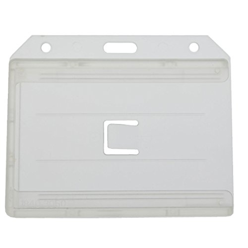 1 X Clear 2-sided Horizontal Multiple ID card Holder by Specialist ID - Sold Individually
