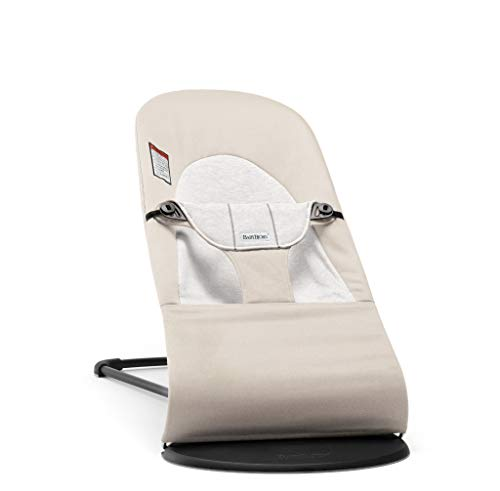 BABYBJÖRN Bouncer Balance Soft, Cotton/Jersey, Beige/Gray