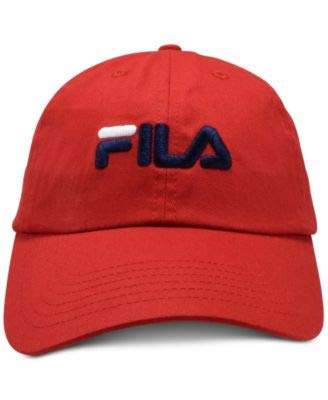 Fila Heritage Cotton Twill Baseball Cap Chinese Red OS