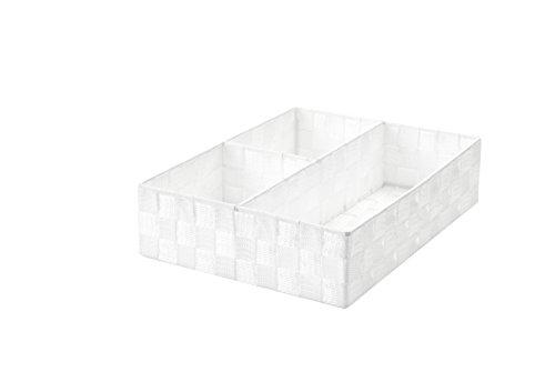 Compactor de Rangement 8 cm de Rayon Ceinture Tex Cesto Trois Scomparti, Blanc